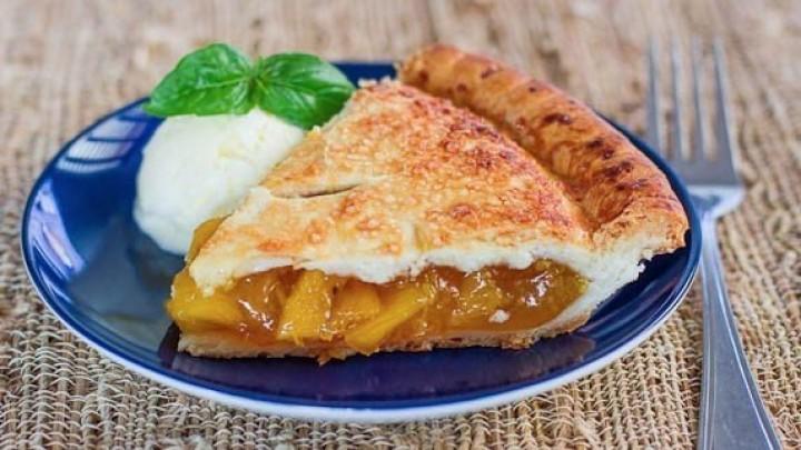 Сочный персиковый пирог