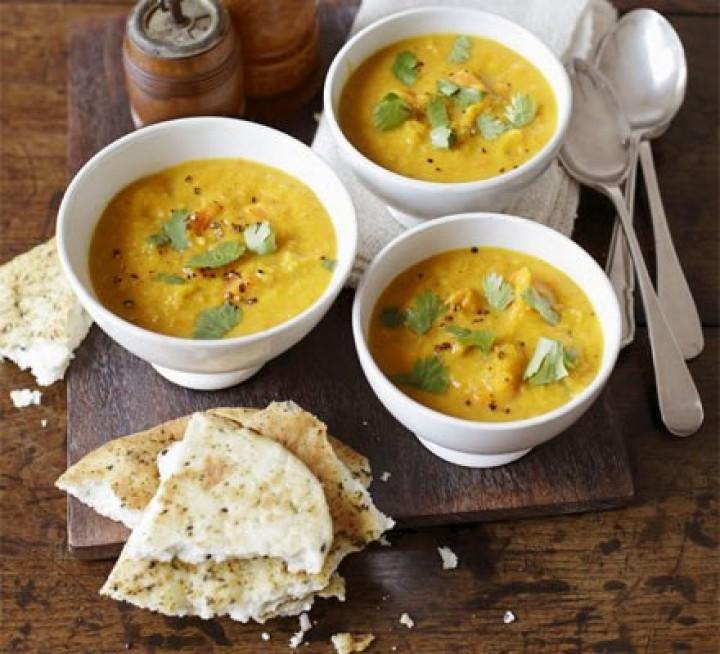 Тыквенно-чечевичный суп