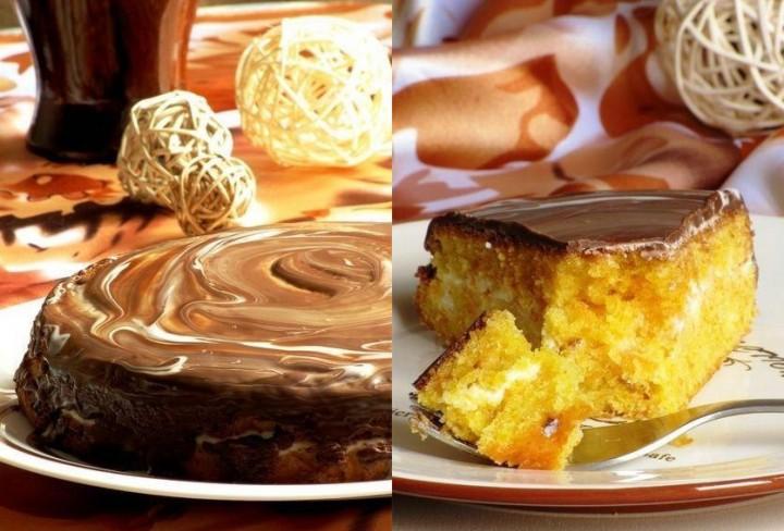 Морковный бисквитный пирог с кремом