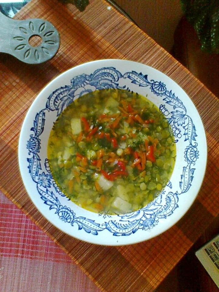 Овощной гороховый суп