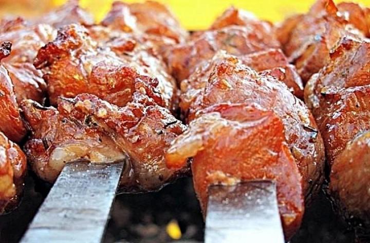 Шашлык из баранины по-индийски