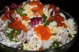 Салат из морепродуктов «Нептун»