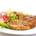 Vienna schnitzel with warm potato salad