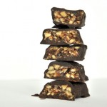 Candied roasted nuts in chocolate