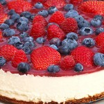 Raspberry pie with lime