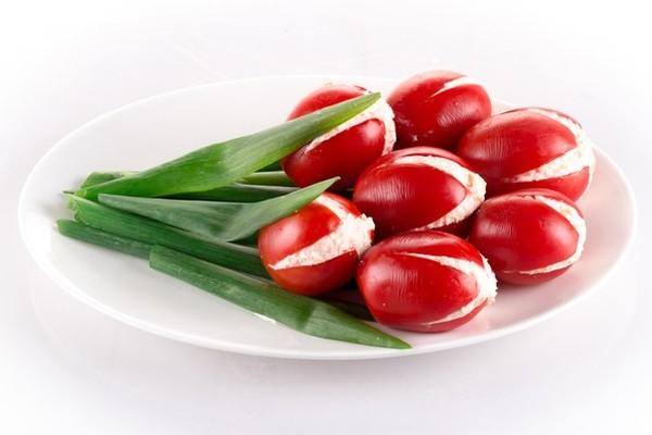 Помидорные тюльпаны