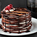 Pancake cake with fruit