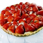 Crostata with strawberries