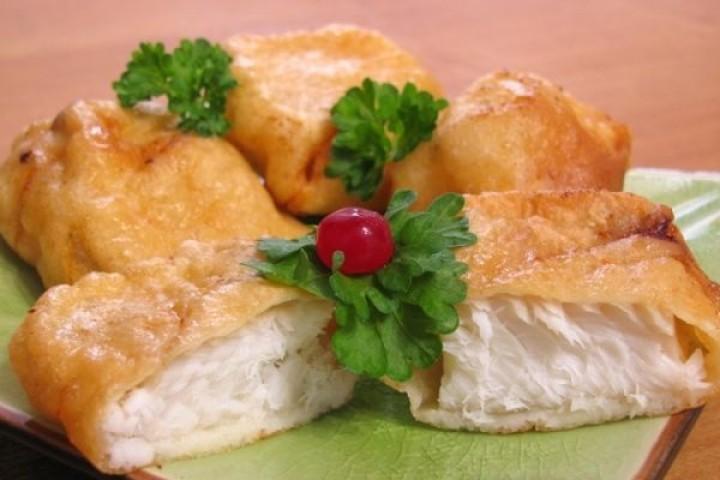 Fried hake in batter